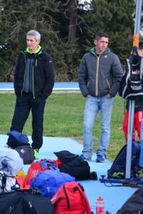 Michele Insalata al fianco dell'olimpionico Alessandro Lambruschini